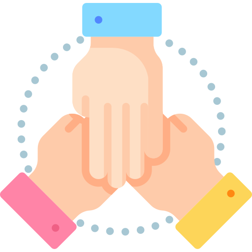 three hands icon